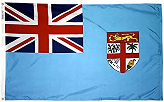 product image for Annin Flagmakers Model 192567 Fiji Flag Nylon SolarGuard NYL-Glo, 2x3 ft, 100% Made in USA to Official United Nations Design Specifications
