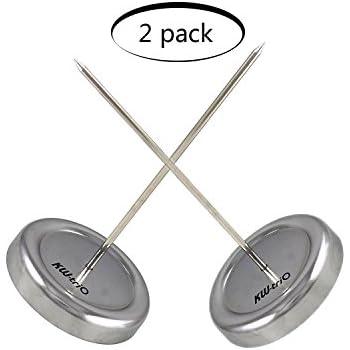 Straight 4 Packs SWONVI 4 Packs 5.9 inch Long Desk Straight Rod Paper Office Memo Receipt Holder Spike Stick Bill Fork