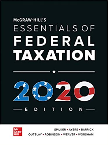 New Tax Laws 2020.Mcgraw Hill S Essentials Of Federal Taxation 2020 Edition
