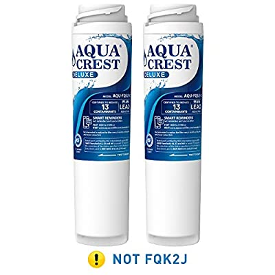 AQUACREST FQSLF NSF 401,53&42 Replacement Under Sink Water Filter, Compatible with GE FQSLF (1 Set)- Reduces Lead, Chlorine, Taste & Odor, Cyst, Benzene and More.