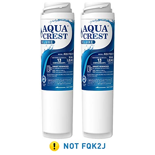 AQUACREST FQSLF NSF 401,53&42 Certified to Reduces Lead, Chlorine, Taste & Odor, Cyst, Benzene and More, Compatible with GE FQSLF (1 Set) ()