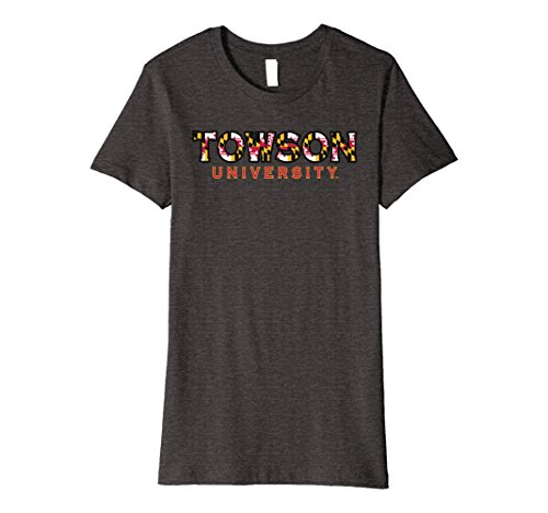 Womens Towson University Tigers NCAA T-Shirt X3tw Large Dark - Fit Towson