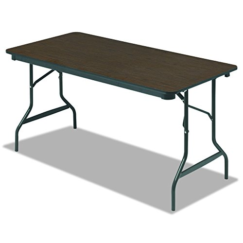 Iceberg ICE55314 Economy Wood Laminate Folding Table with Brown Steel Legs, 30
