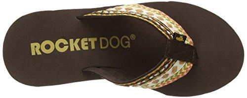 Rocket Dog Diver Webbing Multi - Sandalias de sintético para mujer marrón - Brown (Webbing Multi)