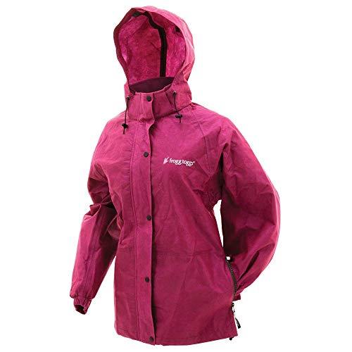- Frogg Toggs Pro Action Rain Jacket, Women's, Cherry, Size Medium
