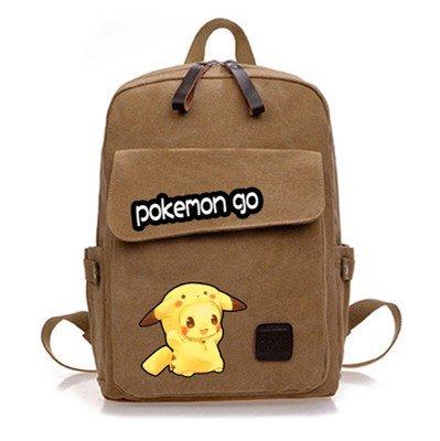 Cuero-de-la-vaca-Piel-Cartera-Multi-bolsillos-Monedero-Cartera-fina-hombre-Anime-Purse-Pokemon-Go-Bag-Pikachu-marrn-Historietas-Mochila