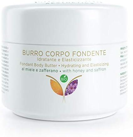 Crema Manteca Natural para el Cuerpo Hidratante y Reafirmante con Azafrán, Miel y Aceite de cànamo sativa - Vitamina E - certificado BIO 100%