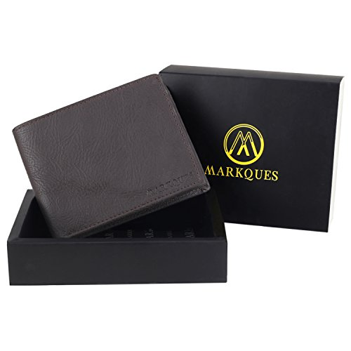 MarkQues Classic Brown Leather Mens Wallet (CL-4402)
