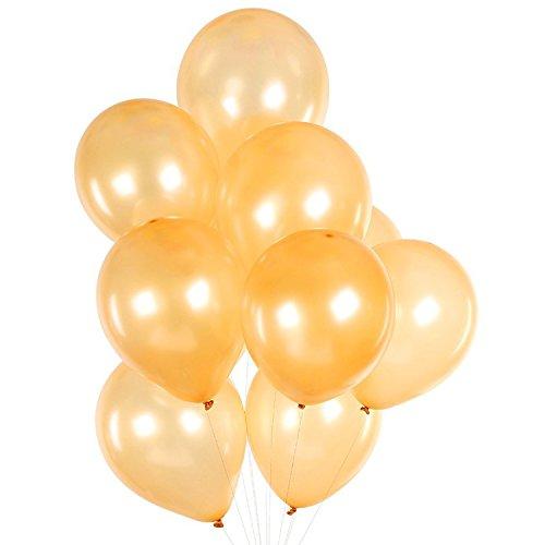 "160 Pack of 12"" Gold Latex Balloons Bulk by LD Goods"