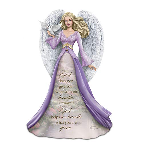 The Hamilton Collection Thomas Kinkade God Helps You Handle What You are Given Handpainted Angel Figurine (Hamilton Collection)