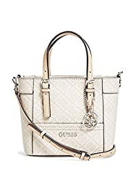 GUESS Factory Delaney Logo-Embossed Mini Tote