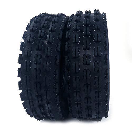 2Pcs MASSFX AT 19X7-8 4PR ATV/UTV Tires 16/7-8 Tubless Sport P327 Left, Right, Front 4PLY ATV Tires by Roadstar (Image #1)