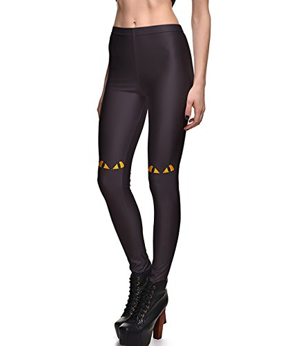 Emmy Lee Women's Digital Print Design Graphic Stretch Footless Fashion Leggings M Cat - The Emmy Cat