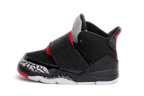 Nike Air Jordan Son Of Toddlers Size (Black / Varsity Red / Cement Grey / White) 512244-001 (6)
