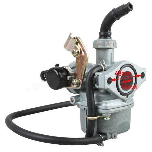 19mm Carburetor w/Cable Choke for 50 cc 70CC 90 cc 110cc 4-stroke ATVs Go Karts Carb Quad 4 Wheeler Dune Buggys