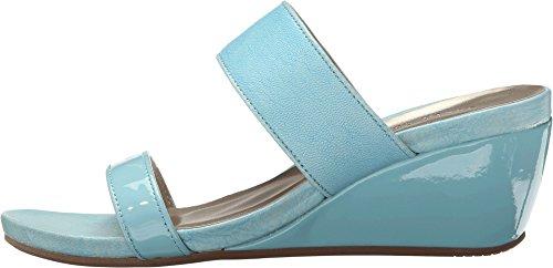 David Tate Mujeres Charlotte Wedge Sandal Blue