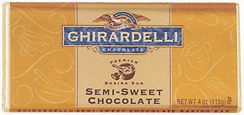 Ghirardelli - Chocolate Baking Bar - Semi Sweet, 12 Units / 4 oz