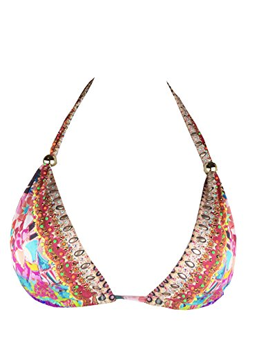 Camilla Casa Mila Pink Printed And Embellished Bikini Top (8)