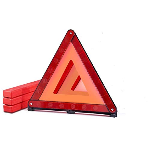 MYSIBKER Triangle Emergency Warning, Triangle Reflector Safety Triangle Car Emergency Roadside Kit 1 Pack