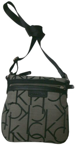 Women's Calvin Klein Purse Handbag Crossbody White/Black