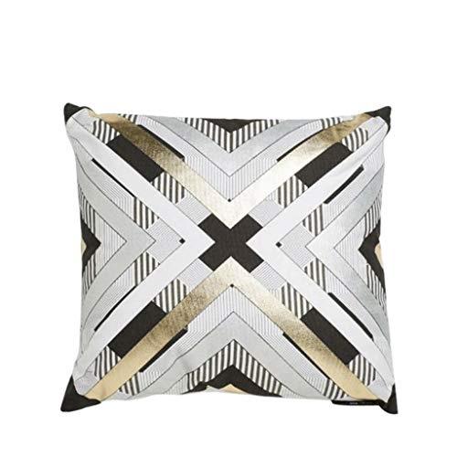 Spot Link Chess Model House Soft Pillow Modern Pillow Gold Sofa Bag Nordic Wind Geometric Pattern (Color : -