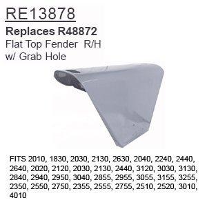 RE13878 John Deere Parts Flat Top Fender R/H 2010, 1830, 2030, 2130, 2630, 2040,