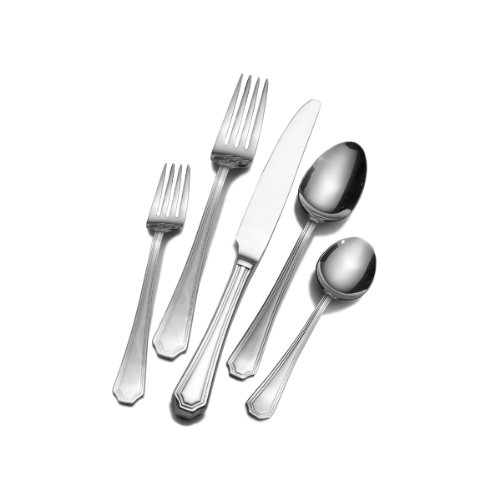 Wallace Home 5116691 Tatum 45-Piece Stainless Steel Flatware Set, Service for 8
