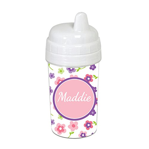 Flowers in Bloom Personalized Sippy Cup (Cup Sippy Personalized)