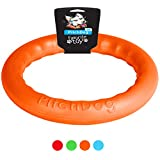 Dog Toys - Dog Training Equipment - Large Dog Toys - Toys for Dogs - Big Dog toys - Fetch Toy - Tough Dog Toys - Dog Tug Toy - Dog Ring Toy - Medium Dog toys - Dog Toy Ring by PitchDog (8, Orange)
