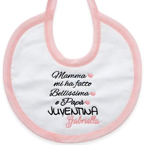 Bavetta Nascita Bimba Juventus Neonato Personalizzata Con Nome
