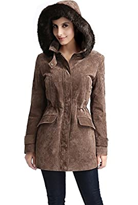 "BGSD Women's ""Chloe"" Missy & Plus Size Suede Leather Parka Coat"