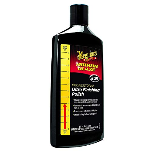(Meguiar's M20508 Mirror Glaze Ultra Finishing Polish, 8 oz)