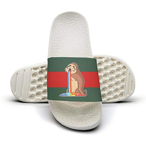 lady Summer Sloth The green 1 red stripe Sloth Slides Sandals Rainbow Sandals and Slipper Riding Unicorn Woman vdxqwRzgv