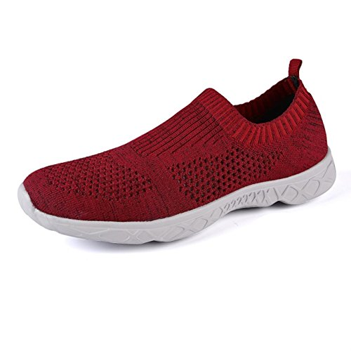 Breathable Aqua Red Unisex Quick Shoes Men Shoes Light Water Drying BUpqO4x
