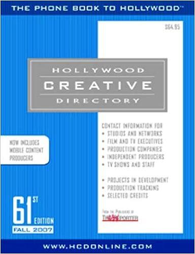 Amazon com: Hollywood Creative Directory 61st Edition