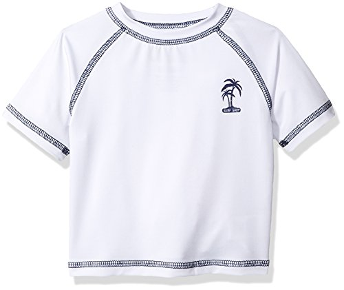 iXtreme Baby Boys Palm Tree Infant Rash Guard, White, 18M