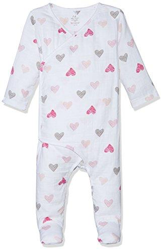 Hearts Sketch (Aden + Anais Baby Long Sleeve Kimono One-Piece, Sketch Hearts, 6-9M)