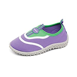 Fresko Toddler Water Aqua Shoes, Girls T1030, Purple/Green, 6 M US Toddler
