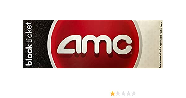 Amazon AMC Black Movie Ticket 2 Pack Office Products
