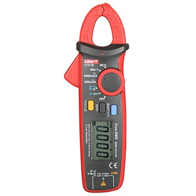 UNI-T UT211B Mini 60A True RMS High-Precision Digital Clamp Meter Auto Range Zero Mode 0.1mA Current Voltage Resistance Capacitance