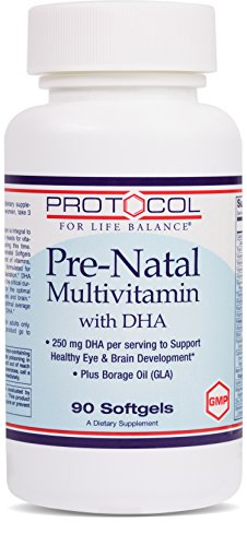 Protocol For Life Balance - Pre-Natal Multivitamin with DHA - Supports Healthy Eye & Brain Development - 90 Softgels