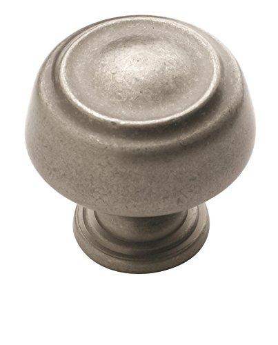 (Amerock BP53700WN Kane 1-3/16 in (30 mm) Diameter Weathered Nickel Cabinet Knob)