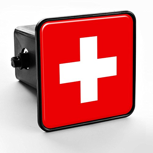ExpressItBest Trailer Hitch Cover - Flag of Switzerland ()