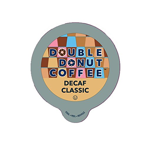 Double DonutClassic Decaf Coffee, in Recyclable Single Serve Cups for Keurig K-Cup Brewers, 24 Count