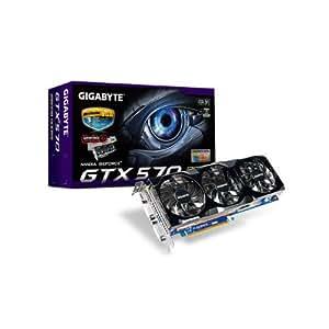 Gigabyte nVidia GeForce GTX570 1280MB DDR5 2DVI/Mini HDMI PCI-Express Video Card GV-N570OC-13I