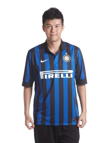 World Cup Nike Inter Milan Home Soccer Jersey 11/12 - Royal Blue-Black (X-Large)