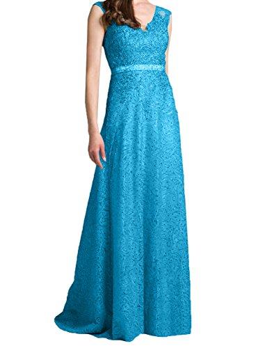 Damen Charmant Partykleider Zwei Neu Traeger Blau Lang Brautmutterkleider Etuikleider Abendkleider Festlichkleider drrwqZ