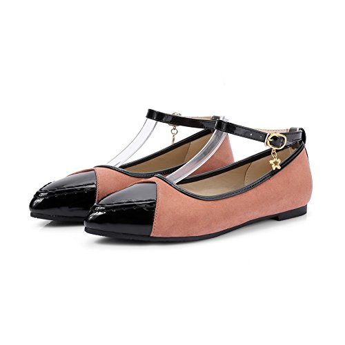 Balamasa Donna Fibbia Colore Assortito Tomaia Bassa Pelle Verniciata Mary-jane-flats Marrone
