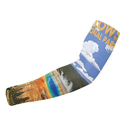 National Park - Grand Prismatic Spring UV Protection Cooling Arm Sleeves, Sun Sleeves for Men & Women (2 Pair)