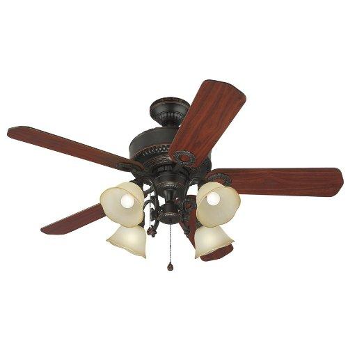 Harbor Breeze 52-in Edenton Aged Bronze Ceiling Fan with Light Kit Item 102524 Model L2B1 UPC 803390601433
